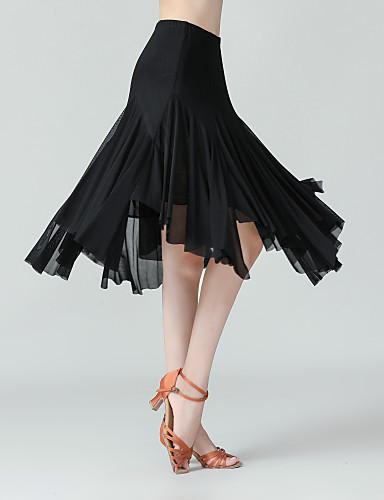 cheap Ballroom Dancewear-Ballroom Dance Skirts Solid Women's Performance Daily Wear High Polyester