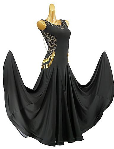 hesapli Latin Dans Giysileri-Latin Dansı Elbise Malzeme Kombini Genç Kız Eğitim Günlük Giyim Kolsuz Pamuklu