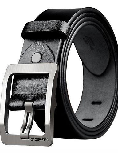 cheap Men's Belt-Men's Casual / Basic Waist Belt - Solid Colored Vintage / Work