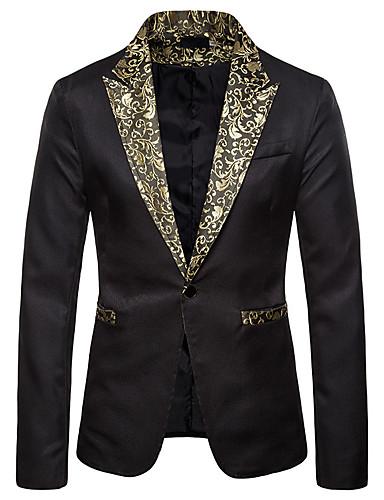 お買い得  メンズブレザー&スーツ-男性用 ブレザー ホワイト / ブラック US32 / UK32 / EU40 / US34 / UK34 / EU42 / US36 / UK36 / EU44