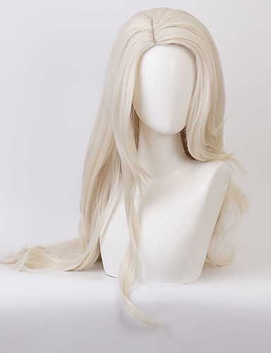cheap Cosplay Wigs-Cosplay Cosplay Cosplay Wigs Women's Middle Part 30 inch Heat Resistant Fiber Curly Blonde Adults' Anime Wig