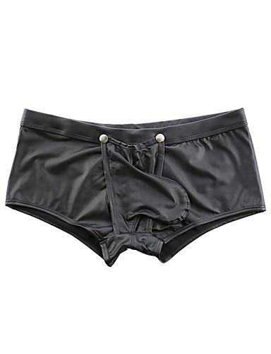 abordables Vêtements Homme-Homme Basique Boxers - Normal Taille basse Noir S M L