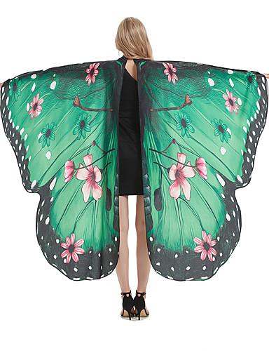 cheap Men's & Women's Halloween Costumes-Butterfly Wings Cloak Adults' Women's Cosplay Halloween Halloween Festival / Holiday Polyester Blue / Purple / Red Women's Easy Carnival Costumes