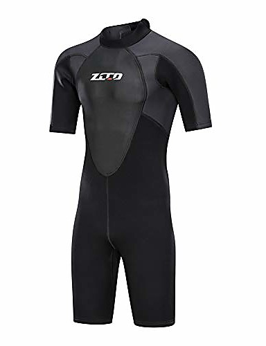 cheap Wetsuits, Diving Suits & Rash Guard Shirts-ZCCO Men's Shorty Wetsuit 3mm Nylon SCR Neoprene Diving Suit Thermal / Warm Quick Dry Stretchy Back Zip - Swimming Diving Water Sports Spring &  Fall Summer