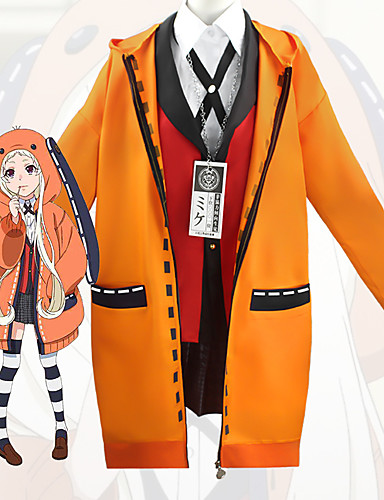 cheap Anime Costumes-Inspired by Dangan Ronpa Anime Cosplay Costumes Japanese Cosplay Suits Coat Blouse Top For Women's / Skirt / Socks / Necklace / Bow Tie
