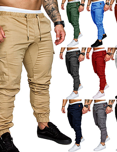 cheap Massive Clearance Sale-Men's Joggers Jogger Pants Running Pants Athletic Sweatpants Athleisure Wear Bottoms Beam Foot Drawstring Fitness Gym Workout Performance Jogging Training Breathable Anatomic Design Wearable Plus Size