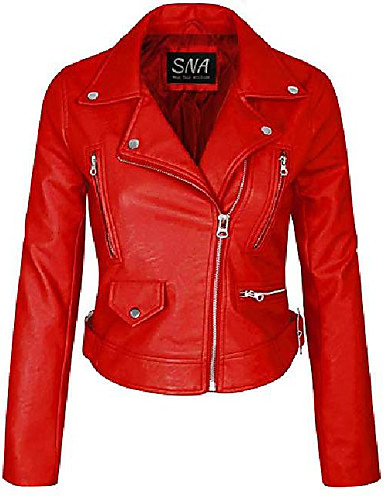 povoljno Krzno i koža za žene-sna ženske crvene kožne jakne po mjeri - kožne jakne po mjeri za žene