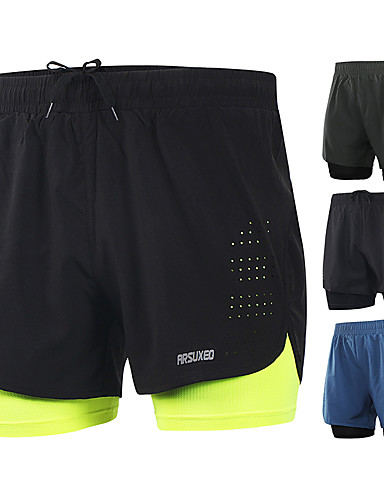 Workout Yoga Sport Training Quick Dry Breathable Gym Fort Isle Mens Running Shorts
