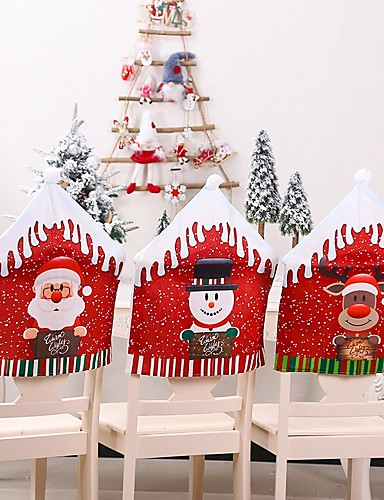 cheap Chair Cover-Christmas Chair Covers Set of 2, Santa Chair Back Suit Slipcovers for Home Kitchen Dining Room Holiday Party Décor