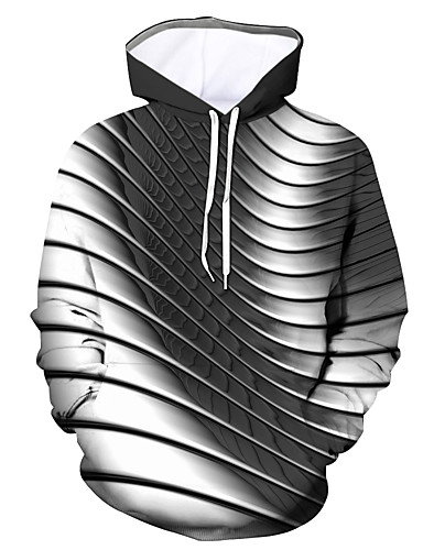 cheap Men's Clothing-Men's Hoodie Graphic Hooded Daily Going out Basic Casual Hoodies Sweatshirts  Black