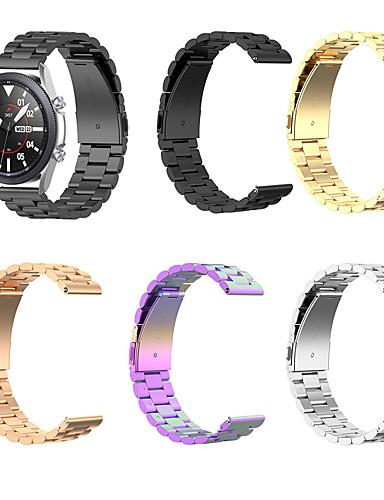 billige Klokketilbehør-Rustfritt Stål Klokkerem Strap til Samsung Galaxy Watch 3 45mm 17cm / 6.69 tommer 2cm / 0.8 Tommer / 2.2cm / 0.9 Tommer