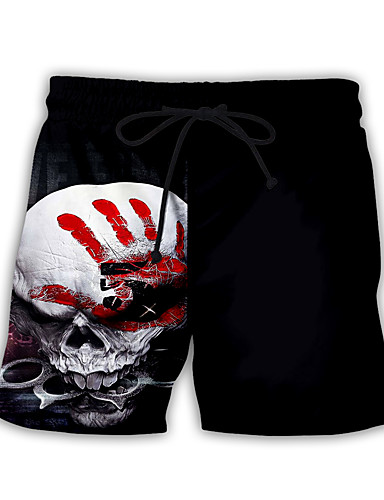cheap Sweatpants-Men's Basic Streetwear Daily Holiday Loose Sweatpants Shorts Pants Print Print Drawstring Breathable Summer Black US32 / UK32 / EU40 US34 / UK34 / EU42 US36 / UK36 / EU44 / Elasticity
