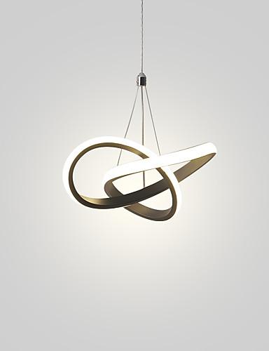 billige Anheng Lys-10,8 tommers mini led pendellampe moderne aluminium taklamper for stue seng spisestue svart hvitmalt 110-120v / 220-240v