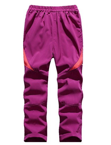 cheap Hiking Trousers & Shorts-Boys' Girls' Hiking Pants Patchwork Winter Outdoor Standard Fit Breathable Quick Dry Ventilation Ultra Light (UL) Pants / Trousers Bottoms Violet White Black Fuchsia Pink Fishing Climbing Running S M