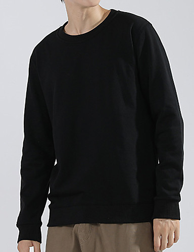 cheap Sports Athleisure-Men's Fleece Sweatshirt Long Sleeve Pure Color Sport Athleisure Pullover Top Breathable Soft Comfortable Exercise & Fitness Running Everyday Use Daily Casual / Cotton