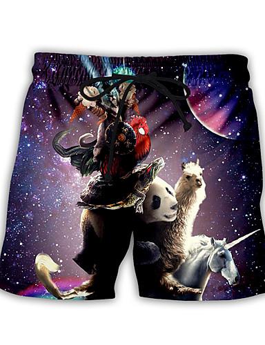 cheap Men's Clothing-Men's Basic Streetwear Daily Holiday Loose Sweatpants Shorts Pants Pattern 3D Print Drawstring Breathable Summer US32 / UK32 / EU40 US34 / UK34 / EU42 US36 / UK36 / EU44 / Elasticity