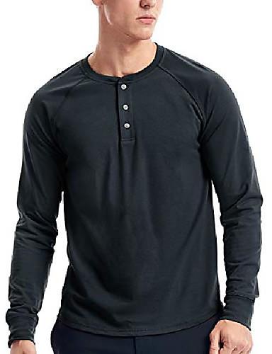 cheap Henley Shirts-mens long sleeve henley shirts& #40;s,dark blue& #41;