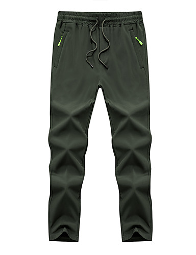 cheap Hiking Trousers & Shorts-Men's Boys' Hiking Pants Winter Outdoor Thermal Warm Waterproof Windproof Breathable Pants Bottoms Dark Grey Black Army Green Camping / Hiking Hunting Climbing M L XL XXL XXXL / Wear Resistance