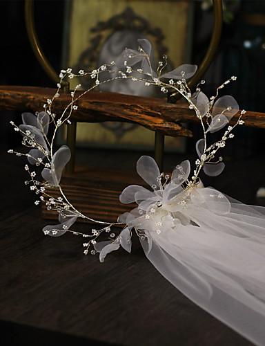 billige Bryllupsslør-En-lags Blomster Bryllupsslør Skulder Slør med Vedhæng / Solid Tyl