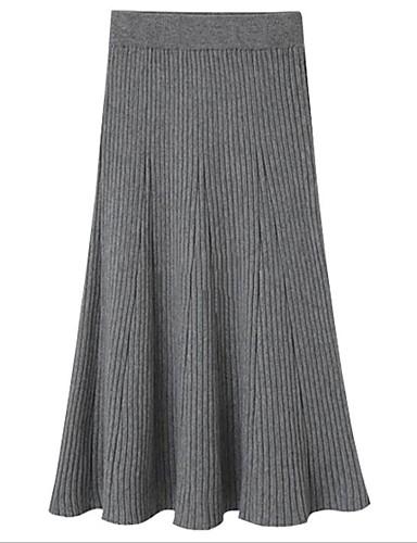 povoljno Ženske suknje-Žene Ležerno / za svaki dan Osnovni Midi Suknje Jednobojni