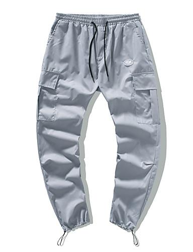 billige Herrebukser og shorts-Herre Chinos Bukser Ensfarvet Sort Blå Mørkegrå M L XL