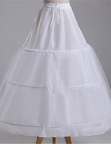 cheap Wedding Slips-Wedding / Formal Evening Slips Mesh / Polyster Tea-Length Steel ring / Bridal with Split Joint