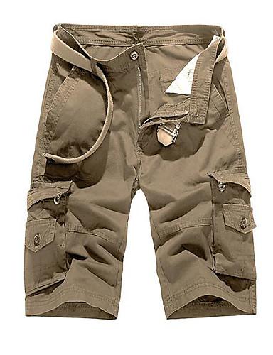 cheap Shorts-Men's Sporty Basic Daily Weekend Shorts Tactical Cargo Pants Solid Colored Sporty Breathable Black Army Green Khaki US34 / UK34 / EU42 US36 / UK36 / EU44 US40 / UK40 / EU48