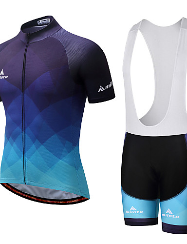 New Yellow Blue Cycling Jersey Bib Shorts Kits Short Sleeve Shirt Pad shorts Set