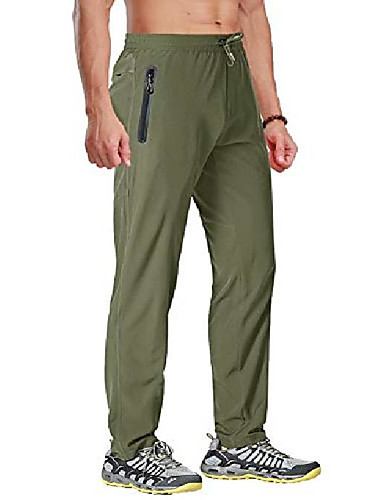 cheap Hiking Trousers & Shorts-Men's Hiking Pants Hunting Pants Summer Outdoor Breathable Quick Dry Sweat-wicking Wear Resistance Pants Bottoms Creamy-white ArmyGreen Black Navy Blue Gray Camping / Hiking Hunting Climbing L XL XXL