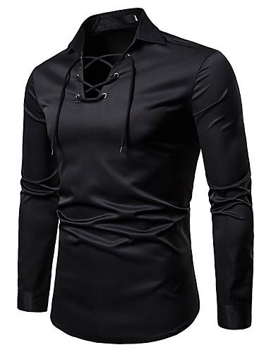 זול חולצות הנלי-חולצת הנסי מוצק עם שרוולים ארוכים כותנה מזדמן שרוול ארוך חולצת טריקו חאקי m