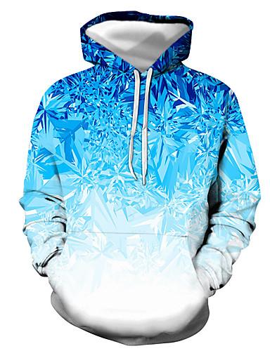 economico Abbigliamento uomo-Per uomo Felpa con cappuccio pullover Pop art Quotidiano Per uscire Stampa 3D Essenziale Casuale Felpe con cappuccio Felpe Nero Blu Viola