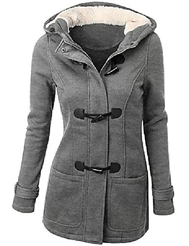 cheap Softshell, Fleece & Hiking Jackets-Women's Coat Winter Outdoor Thermal Warm Windproof Breathable Wear Resistance Coat Top Cotton Camping / Hiking Fishing Climbing Light Gray / Wine / ArmyGreen / Black / Brown