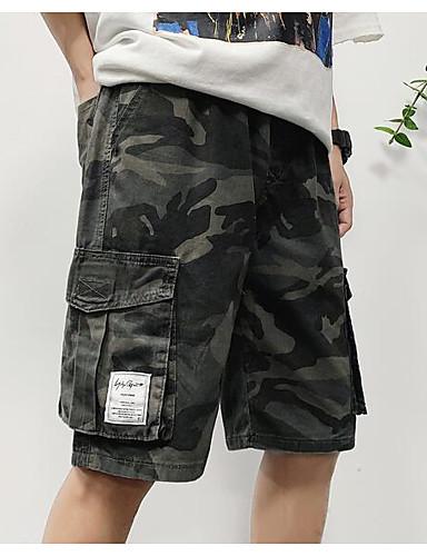 cheap Shorts-Men's Sporty Basic Daily Weekend Slim Cotton Shorts Tactical Cargo Pants Camouflage Print Breathable Summer Army Green US34 / UK34 / EU42 US36 / UK36 / EU44 US40 / UK40 / EU48