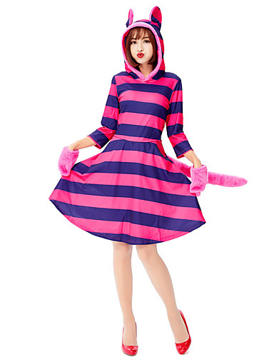 cheap Anime Costumes-Inspired by Alice's Adventures in Wonderland Cat Anime Cosplay Costumes Japanese Cosplay Suits Dress Gloves For Women's