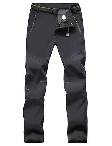 cheap Hiking Trousers & Shorts-Women's Hiking Pants Softshell Pants Summer Outdoor Thermal Warm Waterproof Windproof Breathable Cotton Bottoms Smoky gray Black Purple Khaki Camping / Hiking Hunting Climbing S M L XL XXL