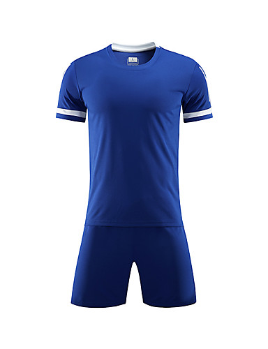 povoljno ljetni popust-Uniseks Nogomet Kratke hlače Biciklistička majica Sportska odijela Trenažer Prozračnosti Nogomet Jednobojni Poliester Claret-crveno Crvena Plava