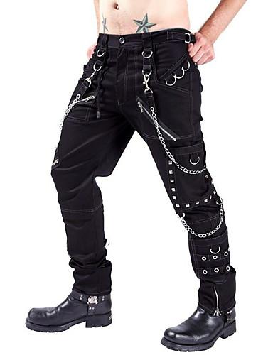 cheap Cargo Pants-Men's Tactical Cargo Pants Solid Colored Black 29 30 31