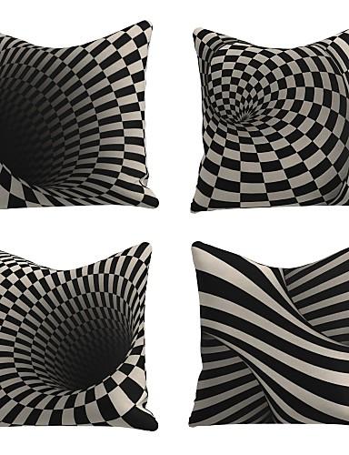 economico Casa e giardino-4 pz lino morbido decorativo quadrato tiro cuscino copertura federa per divano camera da letto 45 x 45 cm (18 x 18 pollici) qualità superiore lavabile in lavatrice