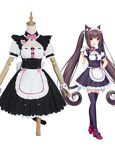 cheap Anime Cosplay-Inspired by NEKOPARA chocolate Anime Cosplay Costumes Japanese Cosplay Suits Dress Socks Bow For Women's / Tail / Hat / Headwear / Wristlet / Bow Tie