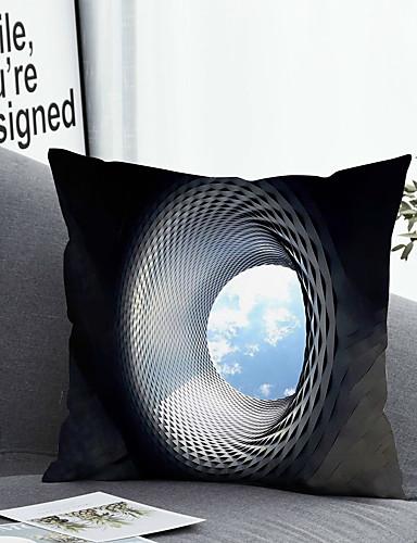 economico Casa e giardino-1 pezzi Tessuto sintetico Copricuscino Fodera per cuscino e inserto Semplice Classico Quadrato Zip Poliestere Tradizionale Classico