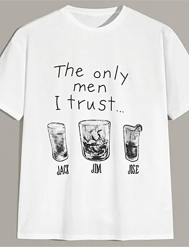 cheap Graphic Tees-Men's Unisex T shirt Hot Stamping Letter Plus Size Print Short Sleeve Casual Tops 100% Cotton Casual Fashion White