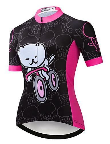 Cat Girl Women/'s Sportswear Long Sleeve Cycling Jerseys Bicycle Bike Shirt Green