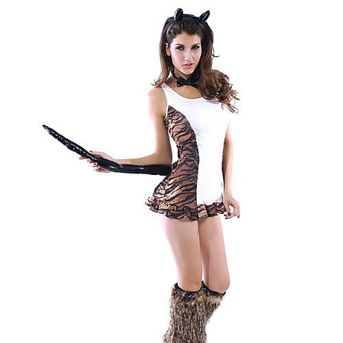 sexy fancy tigress dress halloween costume4pieces - Tigress Halloween Costume