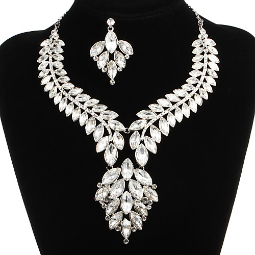 Jewelry Set Women's Anniversary / Wedding / Engagement / Birthday / Gift / Party / Special Occasion Jewelry Sets Alloy Rhinestone 2018 - US $49.99