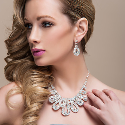 Marvelous Alloy With Rhinestones Wedding Jewelry Set,Including Necklace And Earrings 2018 - US $21.99