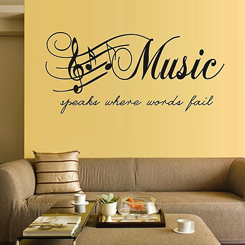 Music Words & Quotes Wall Stickers Plane Wall Stickers Decorative ...