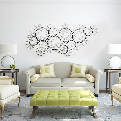 Circular Wall Decor e-home® metal wall art wall decor, circular snow wall decor 2017