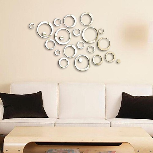 Mirrors Wall Stickers Mirror Wall Stickers Decorative Wall Stickers,Vinyl  Material Removable Home Decoration Wall Decal
