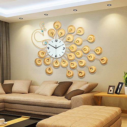 modern style creative golden super big peacock mute wall clo