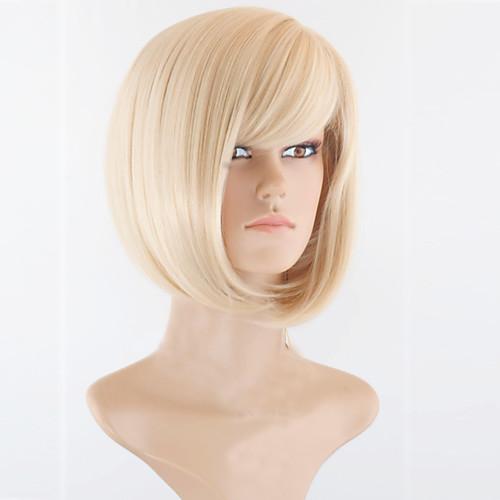 Peruci Sintetice Pentru Femei Drept Blond Tunsoare Bob Short Bob